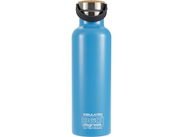 360° degrees Vacuum Insulated Drinkfles 750ml blauw
